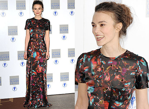 Keira Knightley at the Laurence Olivier Awards 2010 in Erdem