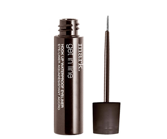 Mark Get in Line Waterproof Liquid Eye Liner ($6) gives a lot of pigment payoff in a surf-resistant formula.