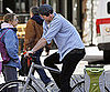Slide Photo of Liev Schreiber Riding His Bike in NYC