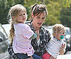 Slide Photo of Jennifer Garner Carrying Seraphina and Violet Affleck