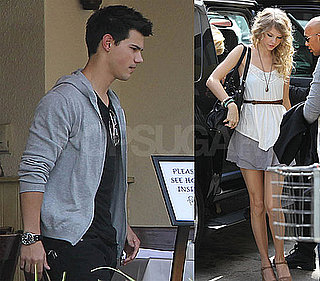 Photos of Taylor Lautner and Taylor Swift at Lunch Together in LA