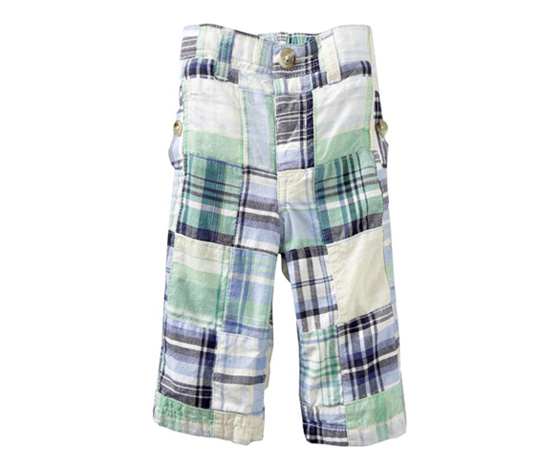 Patchwork Plaid Pants