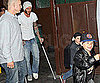 Slide Photo of David Beckham with Romeo and Cruz in LA