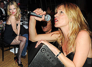 Photos of Kate Moss in Red Lipstick Singing at Mummy Rocks Charity Event in London With Rhys Ifans, Jamie Hince, Damian Lewis 2010-03-25 16:30:08