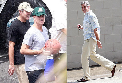 Photos of George Clooney Playing Basketball on the Hawaii Set of The Descendants