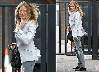 Photos of Sienna Miller in London Without Jude Law After Her Appearance on GMTV