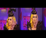 Telephone Hat on a British Talk Show