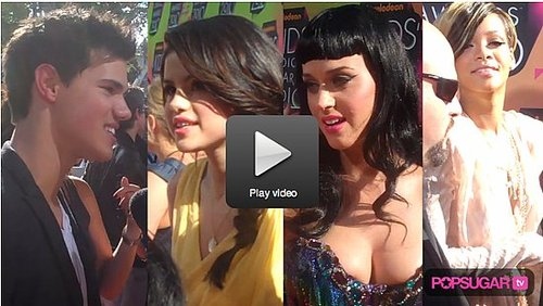 Video from the Red Carpet at the 2010 Kids Choice Awards