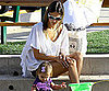 Slide Photo of Alessandra Ambrosio and Daughter Anja Playing in the Park