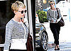 Carey Mulligan in Stripey Cardigan and Cropped Trousers in LA, Copy Her Look