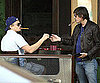 Slide Photo of Leonardo DiCaprio Smoking Cigar with Lukas Haas