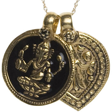 Ganesha & Goddess of Power Necklace, Black $188