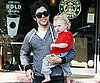 Slide Photo of Pete Wentz and Bronx Going to Starbucks Together in Los Angeles