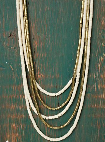 Free People Woodstock Beaded Necklace