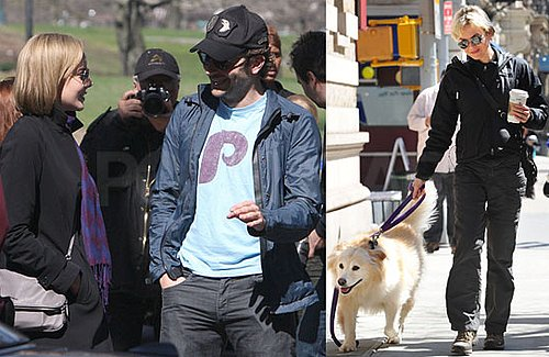 Photos of Bradley Cooper Visited by Renee Zellweger on the Set of The Dark Fields in NYC