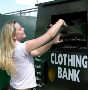 Donate Old Clothes on Vacation