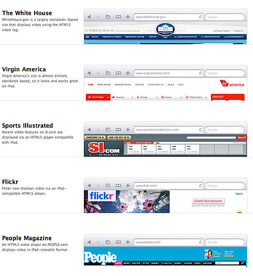 iPad-Ready Websites
