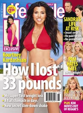 Diet and Weight Loss Tips From Kourtney Kardashian in Life & Style Magazine