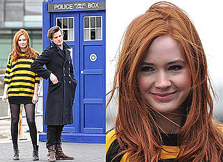 Photos of Doctor Who's Matt Smith and Karen Gillan Promoting the BBC Show