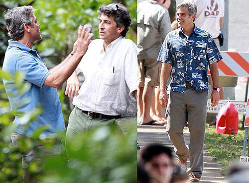 Photos of George Clooney and Alexander Payne Together on the Oahu Set of The Descendants