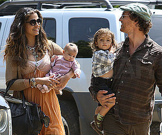 Slide Photo of Vida, Levi, Camila and Matthew McConaughey in Malibu