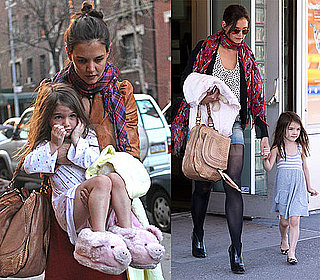 Photos of Suri Cruise In Her Slippers and On a Playdate in NYC With Katie Holmes