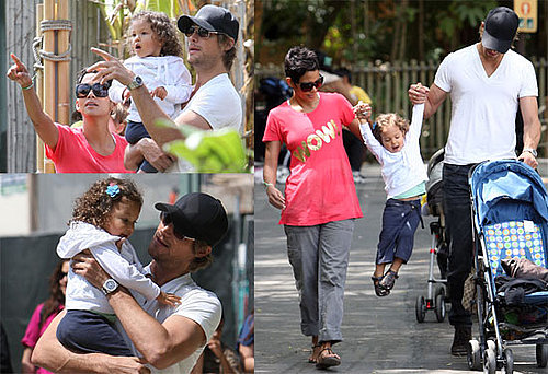 Photos of Halle Berry, Gabriel and Nahla Aubry at the Zoo in Los Angeles