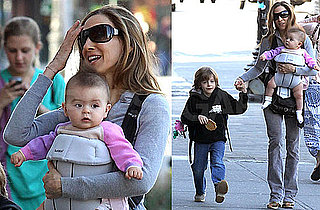 Photos of Sarah Jessica Parker, James Wilkie Broderick, Tabitha Broderick, And Marion Broderick in NYC 2010-04-06 04:00:00
