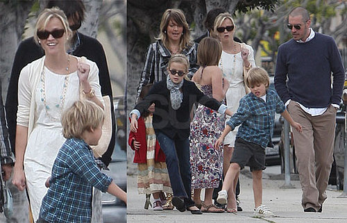 Photos of Reese Witherspoon And Jim Toth Celebrating Easter at Chuch in LA With Ava And Deacon Phillippe