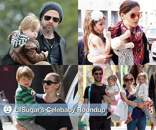 Photos of Brad Pitt With Knox, Katie Holmes With Suri Cruise, Kate Winslet With Joe Mendes