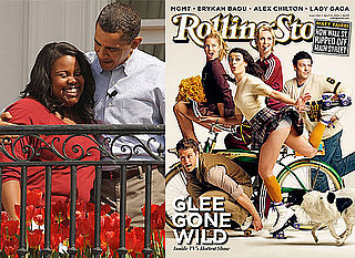 Photos of the Glee Cast on Rolling Stone Magazine Cover and at White House Easter Egg Roll With Justin Bieber, Reese Witherspoon