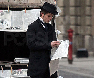 Slide Photo of Robert Pattinson Filming Be Ami