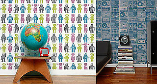 Robot and Analog Wallpaper from Aimée Wilder