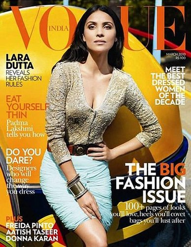 Lara Dutta - Vogue India March 2010