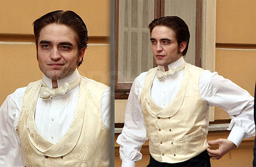 Photos of Twilight's Robert Pattinson Filming Bel Ami With Uma Thurman