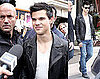 Pictures of Taylor Lautner Signing Autographs For Fans in Paris