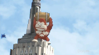 Pixelated Video Game Characters Take Over the World