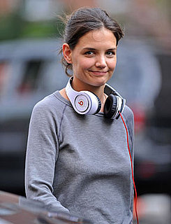 Katie Holmes Wearing Beats by Dr. Dre Headphones on Set in Queens