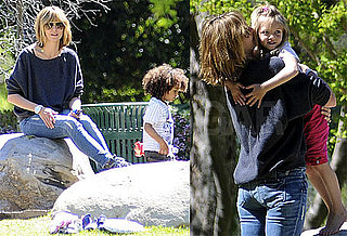 Pictures of Heidi Klum with Leni, Johan and Henry Samuel at The Park in LA