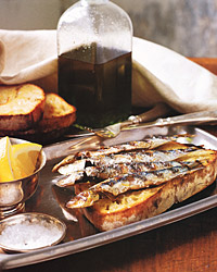 Fresh Sardines on Grilled Bread