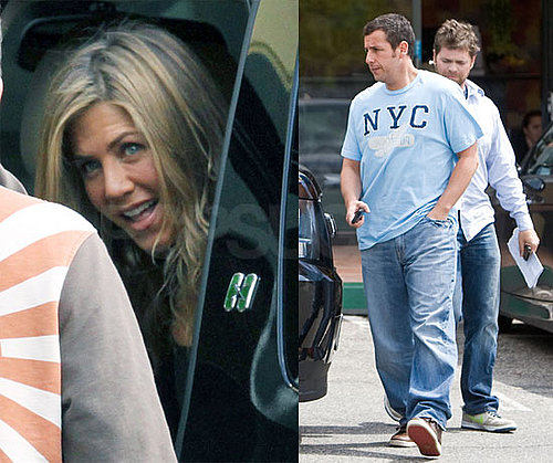 Pictures of Jennifer Aniston and Adam Sandler Filming in LA