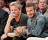 Slide Picture of David Beckham at Lakers Game With Gordon Ramsay