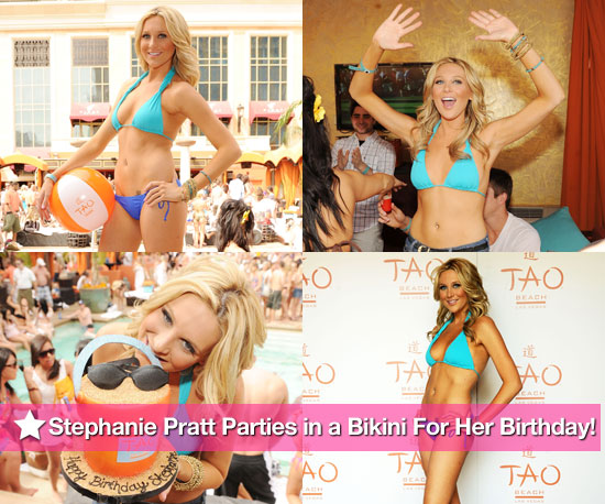Pictures of Stephanie Pratt in a Bikini on her 24th Birthday at TAO Beach in Las Vegas 2010-04-13 14:30:00