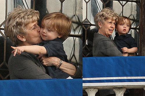 Pictures of Knox Jolie-Pitt With Jane Pitt on the Balcony in Venice, Italy