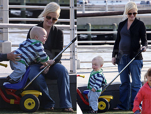 Pictures of Amy Poehler and Archie Arnett Playing in the Park in NYC