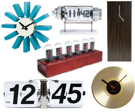 6 Retro Wall Clocks