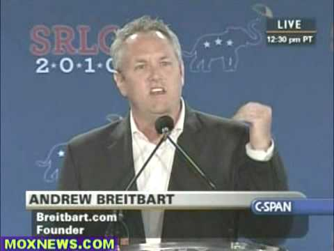 They're The Racist! Andrew Breitbart At South Republican Leadership Conference New Orleans pt.1