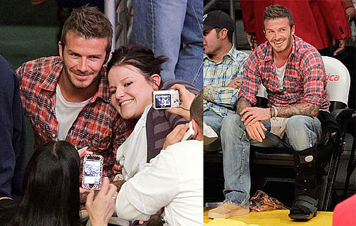 Pictures of David Beckham at a Lakers Game With George Lopez 2010-04-14 09:15:00
