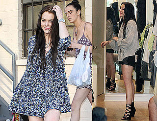 Pictures of Lindsay Lohan Leaving Bar 210 and Shopping in LA with Ali