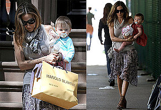 Pictures of Sarah Jessica Parker With Marion or Tabitha Shopping in NYC